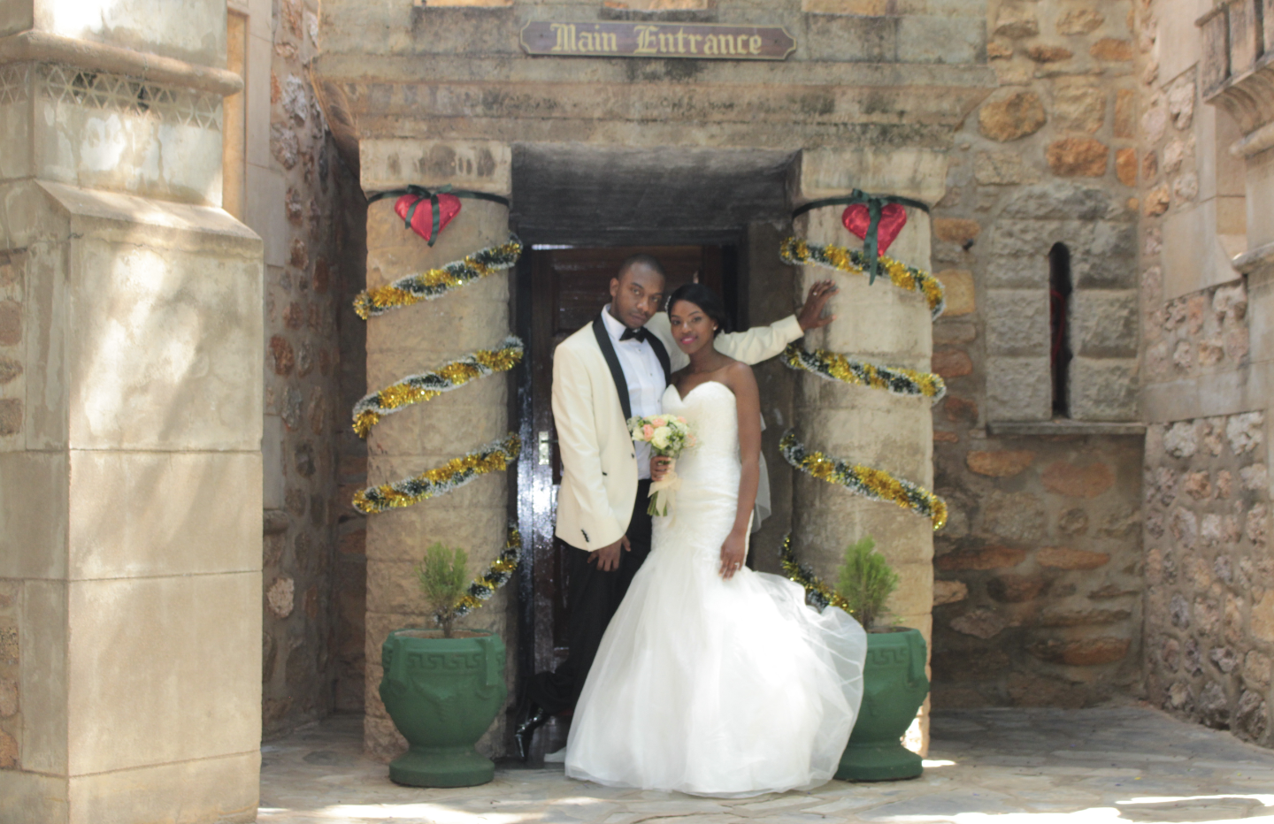 The gorgeous wedding of mr mrs mawire at the nesbitt castle miranda moved oh so gracefully about the castle just as a princess would do in her elegant dress they appeared very royal as they sat side by side at the junglespirit Gallery